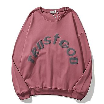 European And American Street Sports Casual Sweater Tide Brand Smiley Letter Printed Loose Pullover Round Neck Sweater