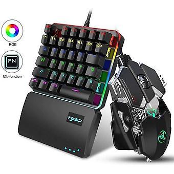35 de taste Mini Gaming Tastatura mouse-ului set cu RGB Backlit Led Tastatură pentru PC / PS4 / Xbox One