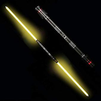 Double-edged Lightsaber, Metal Toy Sword, Luminous Sword With A Total Length Of 195cm (removable Blade) Blackhandle-goldenlight