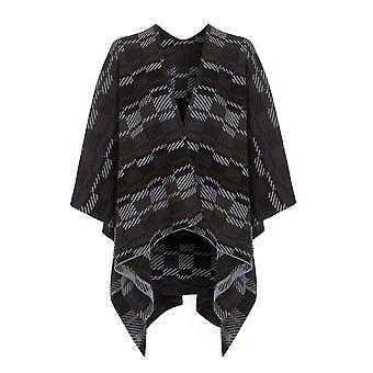 Ex New Look Graphite Checked  Cape