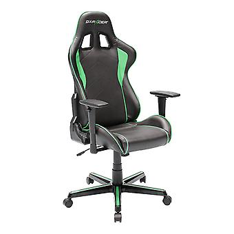 DX Racer DXRacer OH/FH08/NE High-Back Ergonomic Computer Chair PU(Black/Green)