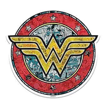 Wonder Woman Shield Logo 3D Effect Kartonnen Cutout / Standee Wall Art