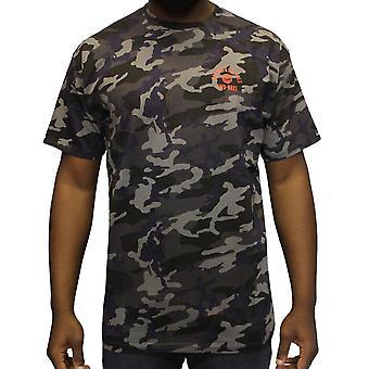 Crooks & Castles Quiet Storm T-Shirt Black Camo