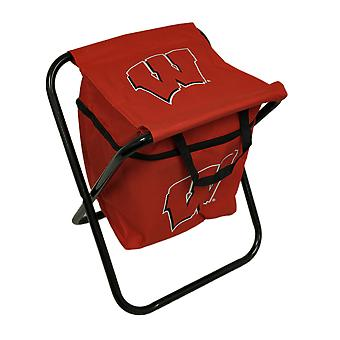 University of Wisconsin Badgers Logo Portable Folding Cooler Seat