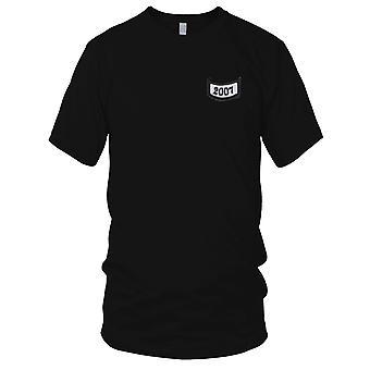 2007 rocker nederst under fanen broderet Patch - Kids T Shirt
