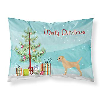 Border Terrier Merry Christmas Tree Fabric Standard Pillowcase