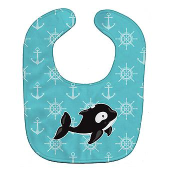 Carolines Treasures  BB8602BIB Whale and Anchors Baby Bib