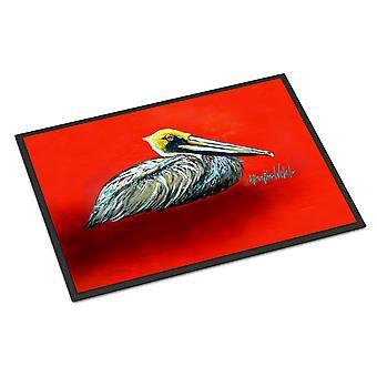 Sitting Brown Pelican Indoor or Outdoor Mat 24x36