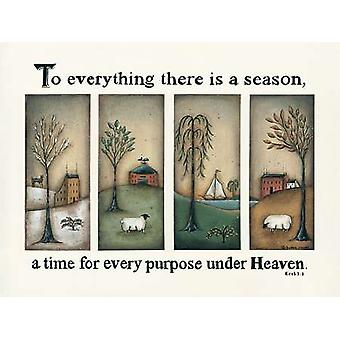 To Everything There is a Season Poster Print by Donna Atkins (16 x 12)