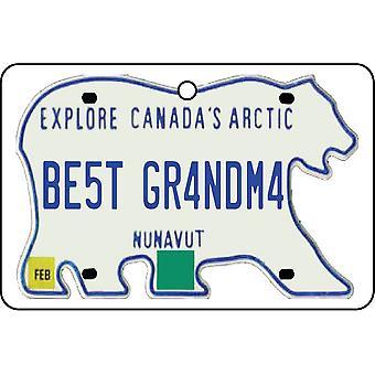 NUNAVUT - Best Grandma License Plate Car Air Freshener