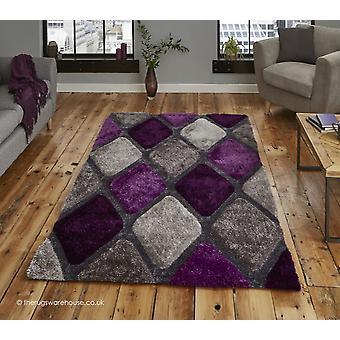 Melio grijs paars tapijt