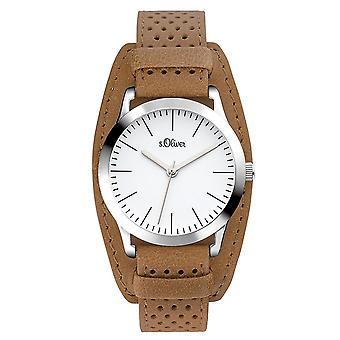 s.Oliver Damen Uhr Armbanduhr Leder SO-3222-LQ