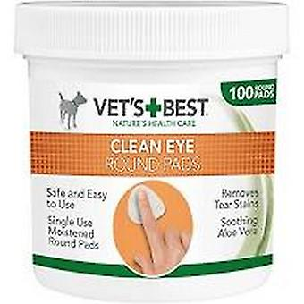 Vets Best Clean Eye Round Pads (100 pads In a Tub)