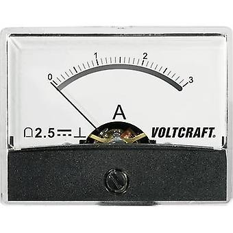 Analoge Rack-Mount-Messgerät VOLTCRAFT PM-60 X 46/3A/DC 3 A