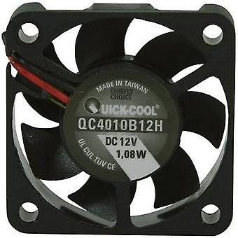 QuickCool QC4010B12H Eksenel fan 12 V DC 12,23 m³/h (L x W x H) 40 x 40 x 10 mm