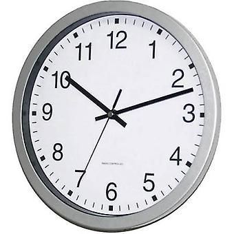 EUROTIME 56831 07 電波壁掛け時計で 30 × 4.3 cm シルバー