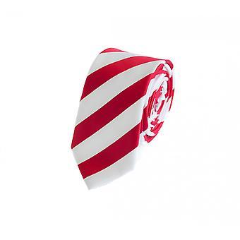 Krawat krawat krawat krawat 6cm czerwony Fabio Farini biały paski