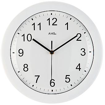 White wireless wall clock wall clock radio white plastic housing