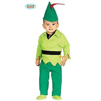 Traje de bebê Archer traje para crianças de conto de fadas medieval pequena fantasia de Robin infantil