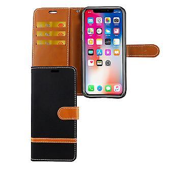 Apple iPhone obudowy telefon komórkowy pokrowiec ochronny XS karta etui czarne