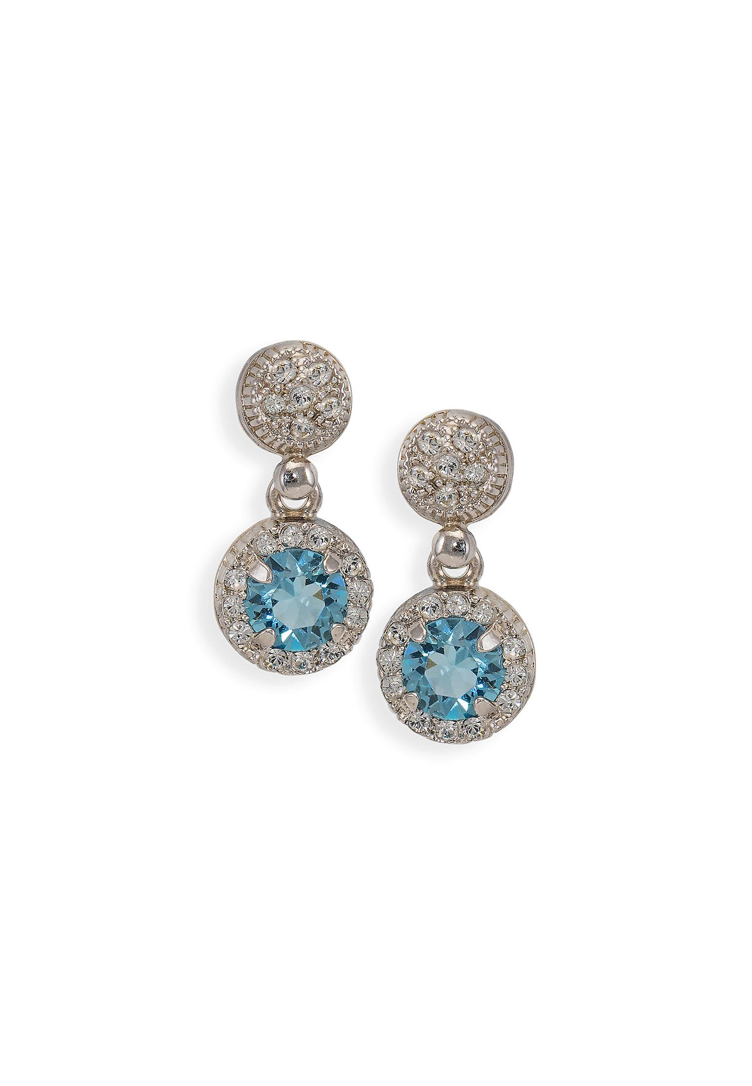 Blue earrings with crystals from Swarovski 4796