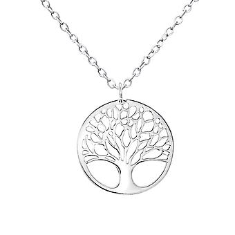 Tree Of Life - 925 Sterling Silver Plain Necklaces - W30875x