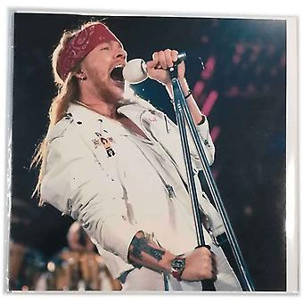 Guns N Roses Greeting Card Axl Rose Band Logo new Official Blank any occasion