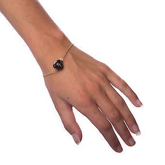 Pulsera de bola de mármol-negro