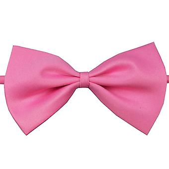 Handsome solid color Clip-On bow tie-pink