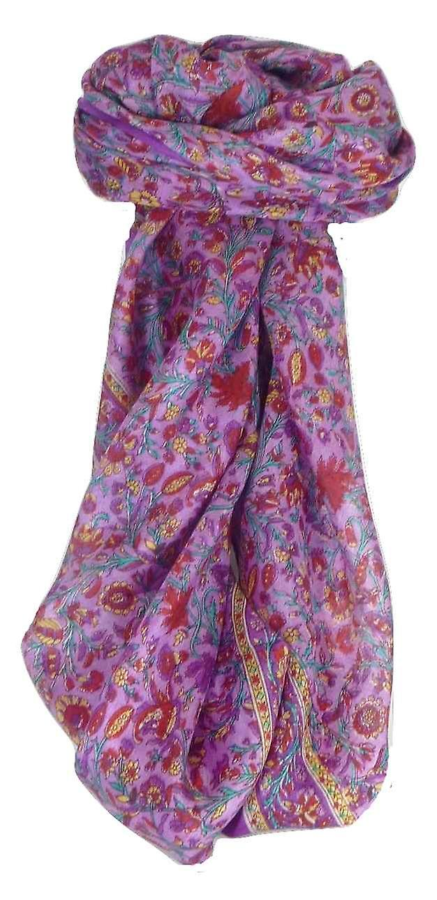 Mulberry Silk Traditional Square Scarf Irma Violet by Pashmina & Silk