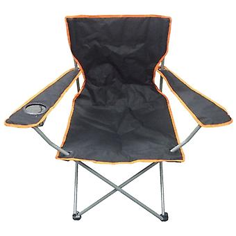 Schwarz & Orange leichte Falten Camping Strand Captains Chair
