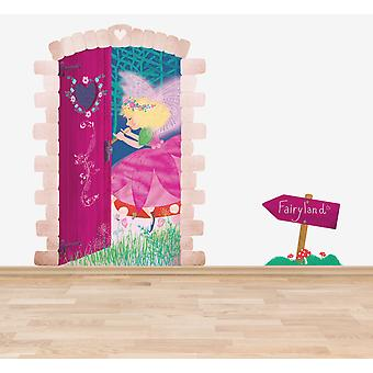Full Colour Fairy Land Door Wall Sticker