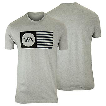 RVCA Mens VA Sport Independence T-Shirt - Gray/Black/Blue