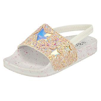 Girls Spot On Glitter Sliders H0298