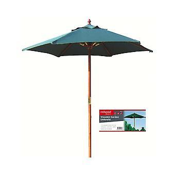2.1 m giardino in legno tessuto ombrello ombrellone verde