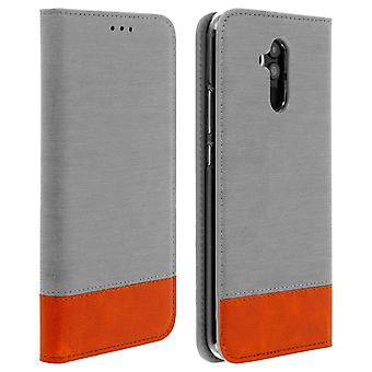 Huawei mate 20 Lite Flip estuche monedero-caja de denim gris