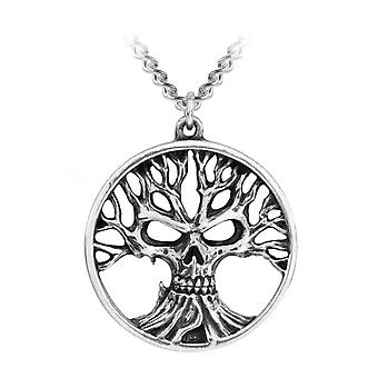 Alchemy Gothic Gotik Tree Of Death Pewter Pendant
