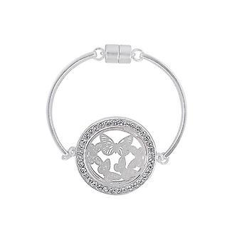Fable Womens/Ladies Butterfly Cutwork Disc Bracelet