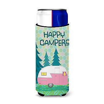 Happy Campers Glamping Trailer Ultra Beverage Insulators for slim cans