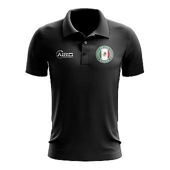 Mexico Football Polo Shirt (Black)