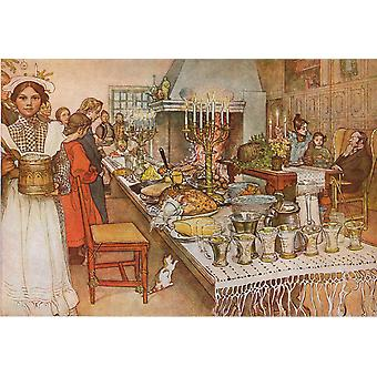 Christmas Eve Banquet, Carl Larsson, 60x40cm