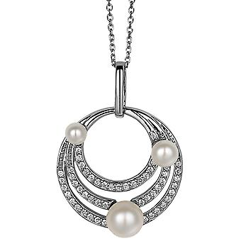 PENDANT CON CHAIN LUNAR 925 SILVER SWEETWATER PEARLS IRCONIUM