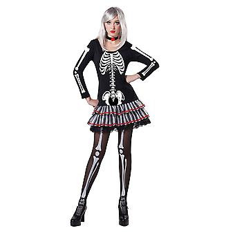 Bristol Novelty Womens/Ladies Skeleton Maiden Costume