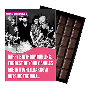 Funny Birthday Gift for Older Women Boxed Chocolate Present For Friend From Oncocoa CDL103