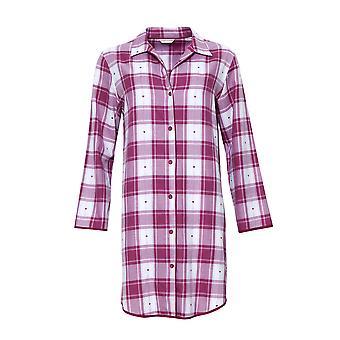 Cyberjammies 4225 Women's Susie Cherry Red Check Cotton Nightshirt