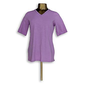 C. Wonder Women's Top Essentials Slub Knit V-Neck Tee Purple A289694