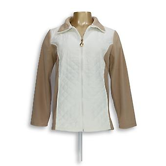 Susan Graver Women's Fleece Jacket Weekend Polar Fleece White A282943