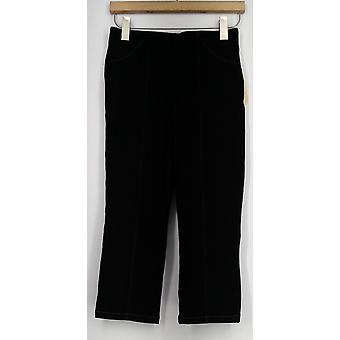 One World Jeans Pull On Capri Style Jegging Black Womens A434404