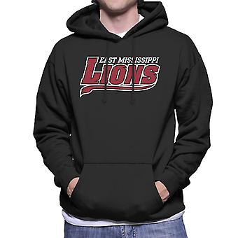 East Mississippi Community College Lions Tail Logo Men's Hooded Sweatshirt