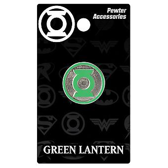 Lapel Pin - DC Comics - Lanterna Verde Logo Pewter Colorato Nuovo 45387